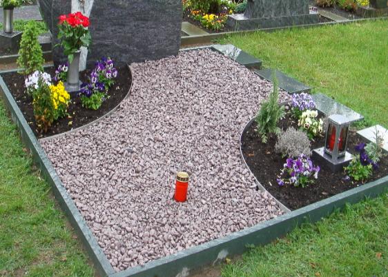 pflegeleichte Grabgestaltung
